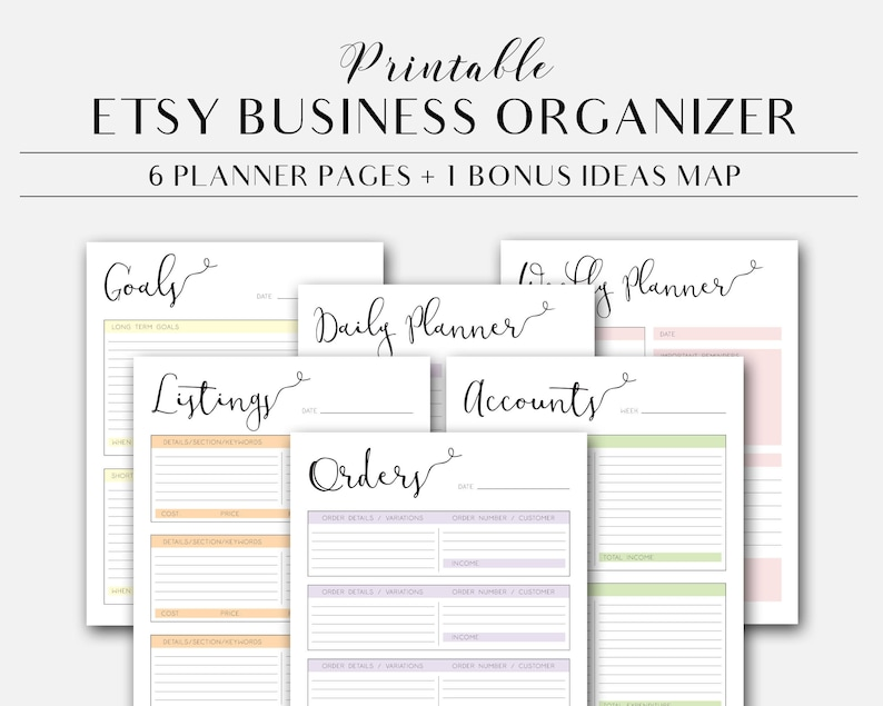 photograph regarding Etsy Printables named Etsy Retail outlet Printable Organizer, Etsy Retail store Planner Web pages Quick Obtain, Etsy Supplier Planner, Small business Planner Webpages, Office environment Printables