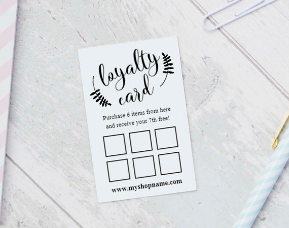 loyalty card templates instant download editable reward etsy
