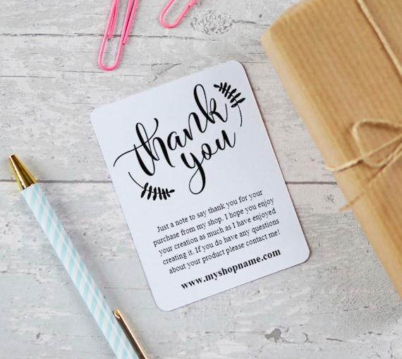 Etsy Seller Thank You Cards Instant Download Etsy Shop Etsy