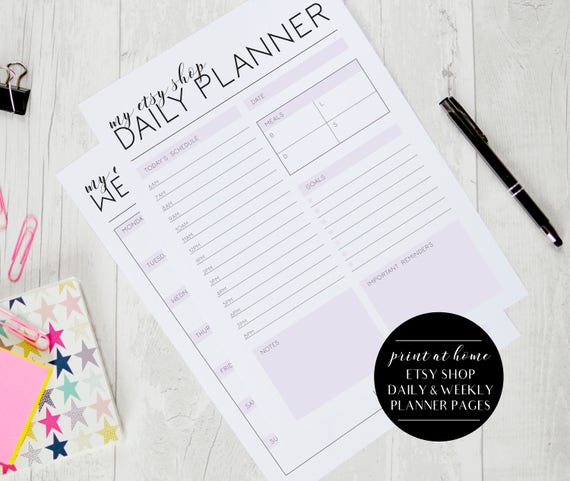 picture regarding Etsy Printables called Etsy Retailer Day-to-day and Weekly Planner Web pages, Etsy Dealer Printable Planner, Etsy Planner, Etsy Printables, Etsy Retail store Organizer, Etsy Supplier