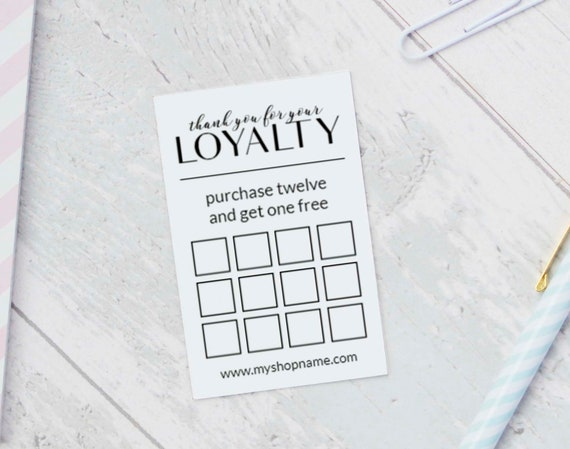 Loyalty Card Templates INSTANT DOWNLOAD Business Printables - Free loyalty card template download