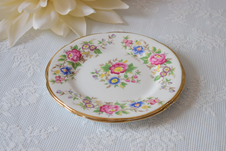 Bridal Shower Vintage Wedding c1950 s Birthday Gift Orphan Cake Plate Rochester by Royal Stafford Housewarming Gift Replacement China
