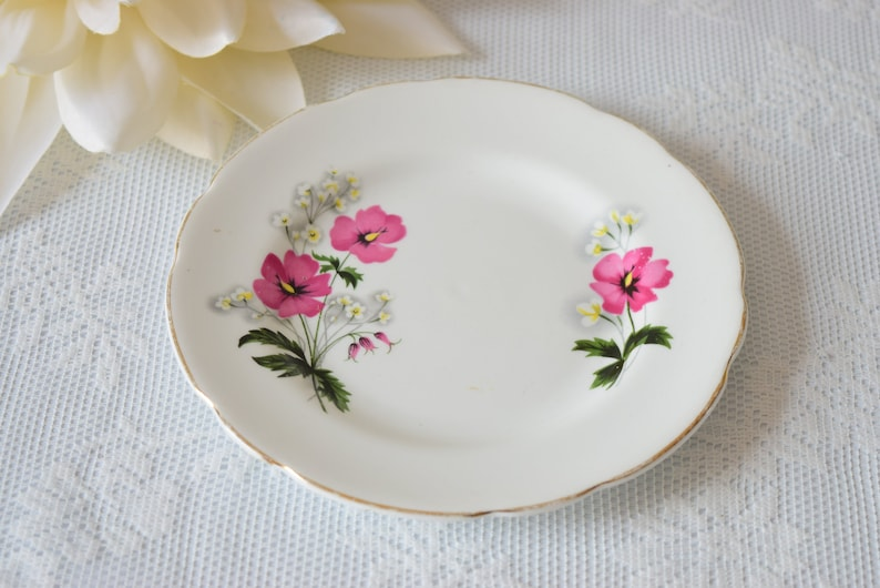 Floral Cake Plate c 1950 s Replacement China Vintage Royal Grafton Housewarming Gift Orphan Plate Birthday Gift Vintage China Plate