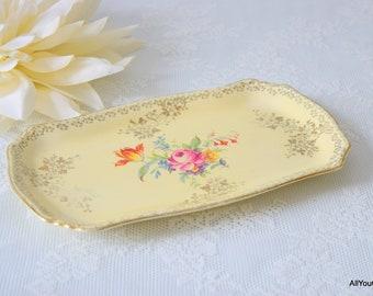 Vintage Snack Plate, Royal Winton Plate, Vintage Tableware, Vintage Plate, Vintage Royal Winton, Royal Winton Grimwades, Birthday, c 1930 s