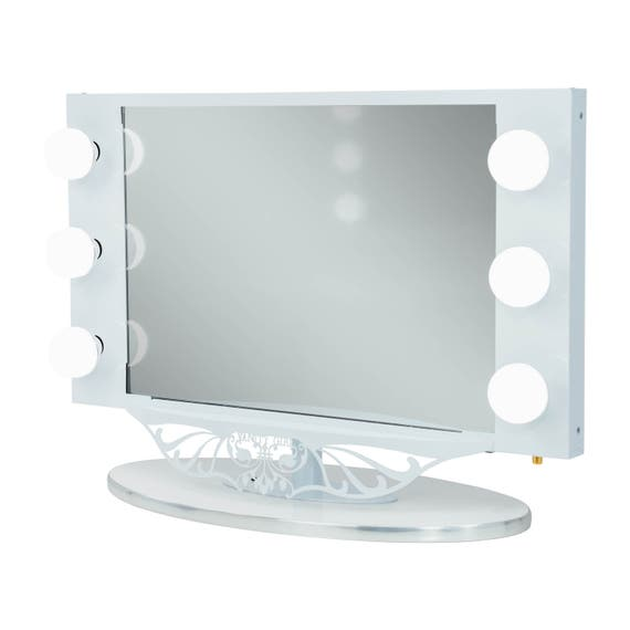 Vanity Girl Starlet Lighted Vanity Mirror With Optic Glass And Etsy