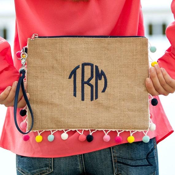 Monogrammed Bag Monogrammed Pouch Monogrammed Makeup Bag  1ba44a111813a