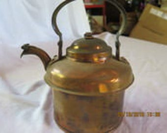 Vintage Copper Tea Pot, Copper, Vintage Tea Pot 6.5