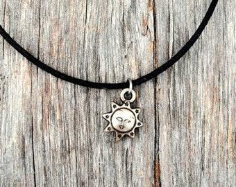 Handmade Sun Charm Choker Necklace