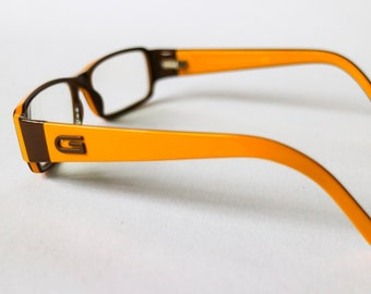 789a23fd95fe Vintage 90s reading glasses women model GG 1522 EMS by Gucci - Colour  variant yellow and brown - 130