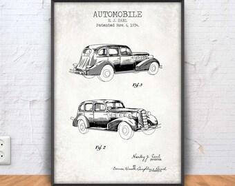 Automotive blueprint etsy automobile poster automobile print automobile blueprint automotive decor car wall art old car printable classic car al capone 1180 malvernweather Images