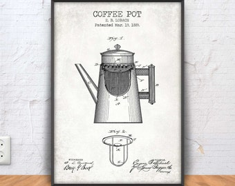 Coffee blueprint etsy coffee pot patent print coffee poster coffee printable coffee blueprint coffee decor coffee wall art kitchen decor cafe bar 1166 malvernweather Gallery