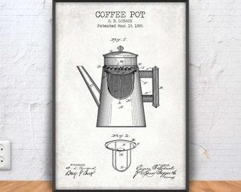 Coffee blueprint etsy coffee pot patent print coffee poster coffee printable coffee blueprint coffee decor coffee wall art kitchen decor cafe bar 1166 malvernweather Choice Image