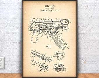 Ak 47 print | Etsy