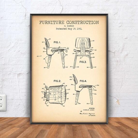 eames chair poster eames chair patent chair blueprint chair