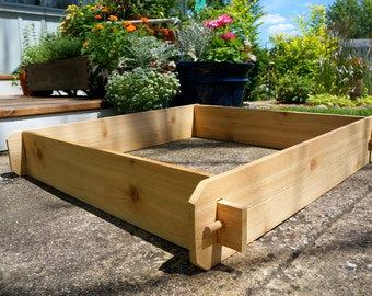 Etonnant 3x3 Cedar Flower Bed, Cedar Planter, Vegetable Garden Box Outdoor Planter  Large Planter Herb Garden Box Garden Planter Box Gift For Gardener