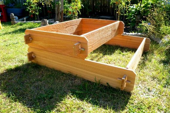 Raised Garden Bed 2 Tier Cedar Raised Planters Raised Beds Etsy