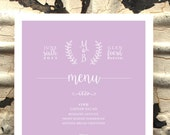 Menu Card, Wedding, Rusti...