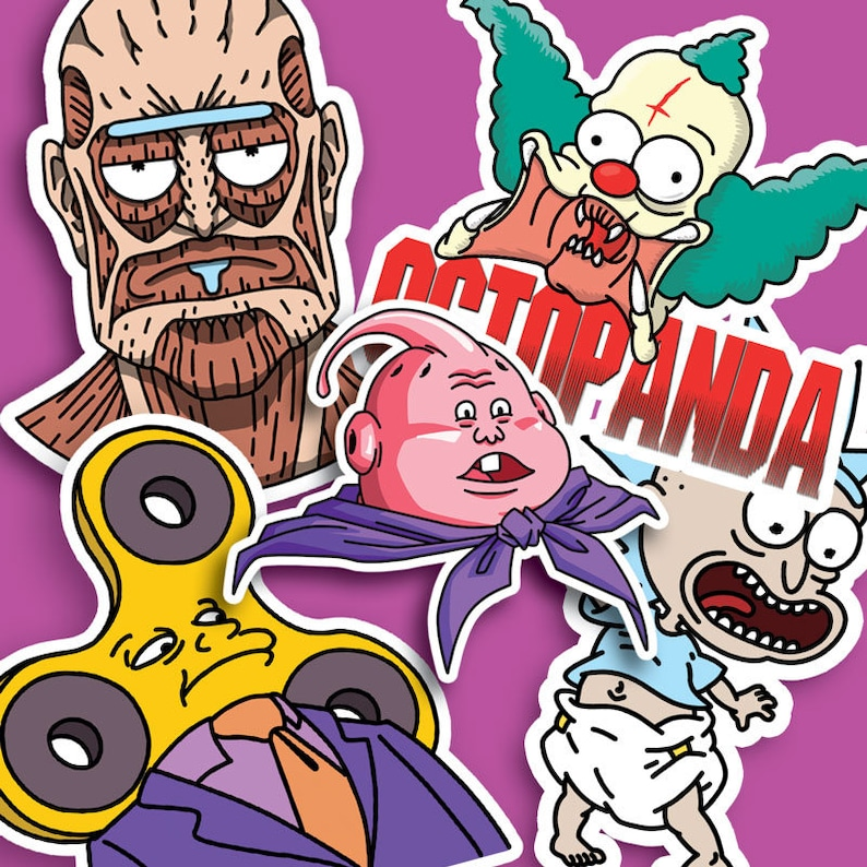 Mixed pack of 5 stickers image 0