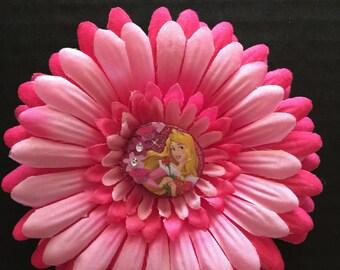 Sleeping Beauty Hair Flower Clip. Disney Princess Aurora