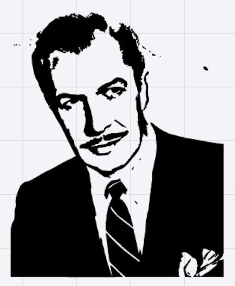 Vincent Price Horror Movie Actor Icon Vinyl Sticker Decal