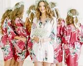 Bridesmaid Robes, Bridal Robes SET of 6,7,8,9,10, Satin Bride Robes, Bridal Party Robes, Wedding Robes, Bridesmaid Gift