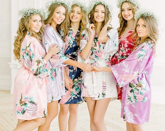silk dressing gowns for bridal party