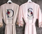 Bridesmaid Robes, Bridal Robes Silk, Satin Bridesmaid Robes, Wedding Robes Lace, Bridesmaids Gifts, Bridal Party Robes, Bride Robe