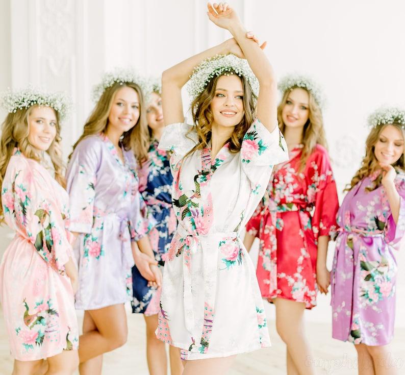 Bridesmaid Robes Bridesmaid Silk Robes Kimono Bridal Robes  143498825