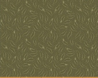 Moss Green Tone on Tone - The Blue and The Grey CIVIL WAR 42152-5 by Nancy Gere - 100% Quilt Shop Cotton for Windham Fabrics - Reproduction