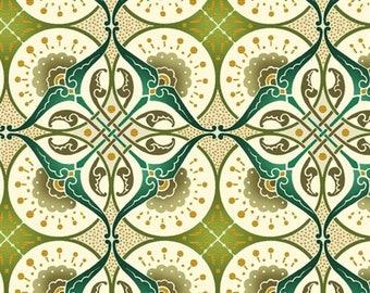 "Deco Elegance by Jason Yenter 3JYE-2M Metallic Art Deco Fabric for In The Beginning Fabrics - 100% Premium Quilt Shop Cotton - 11"" End Bolt"