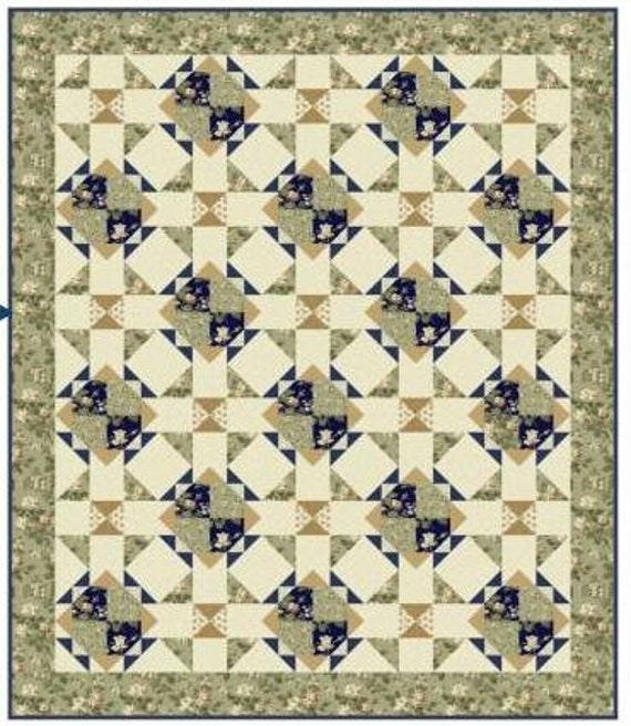 Whistler Studios for Windham Fabrics Evelyn by 12 Yard Navy Blue and White 100/% Premium Quilt Shop Cotton 41988-3