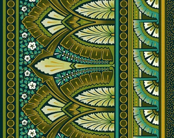 """Deco Elegance Border by Jason Yenter 2JYE 2M Metallic Art Deco Fabric for In The Beginning - 100% Cotton - 1 Yard 22"""" End Bolt In Stock"""