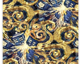 Doctor Who Exploding Tardis - BBC - Space Fabric - 100% Cotton BBC