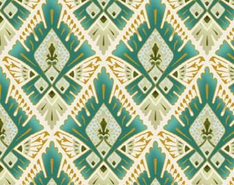 Deco Elegance by 1/2 Yard - Diamonds by Jason Yenter 5JYE-2M Metallic Art Deco for In The Beginning Fabrics - 100% Premium Quilt Shop Cotton