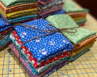 FQ BUNDLE of 16 Fabrics from Adeline Collection - 1930s Reproduction by Kathy Hall for Andover Fabrics - 100% Premium Cotton Fabric