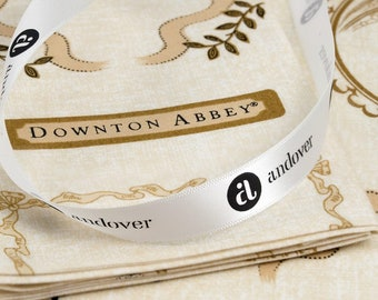 Downton Abbey The Downton Logos and Labels A-7670-L by Kathy Hall for Andover Fabrics -  100%  Premium Quilt Shop Cotton