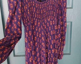 8ec797a2b5 Vintage 70's AYESHA Dress, Cotton Boho Style, Festival Dress, Empire Waist,  made in India.