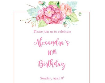 Birthday invitation template etsy watercolor birthday invitation template digital file stopboris Images
