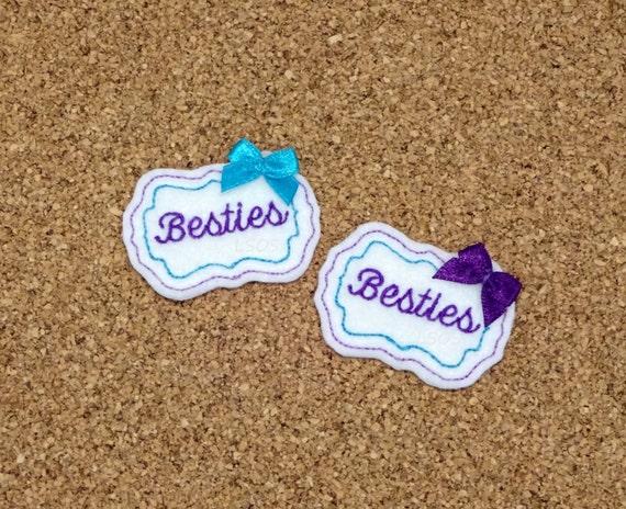 Besties Feltie Digital Embroidery Design Besties Felties Best Etsy