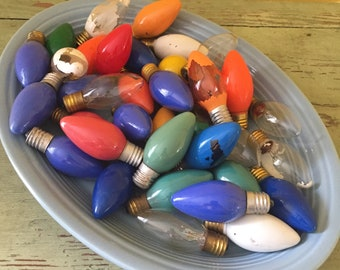 Bag of 37 Non-Working Burnt Out C-9 Christmas Light Bulbs