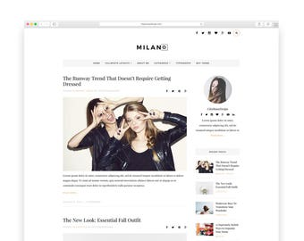 Milano Wordpress theme-Wordpress template- Feminine template - Responsive WordPress Theme - Fashion template - Wordpress blog theme