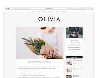 Olivia - Wordpress theme - Wordpress Template - Responsive WordPress Blog Theme - Shop Template  - Woocommerce - Fashion - Photography