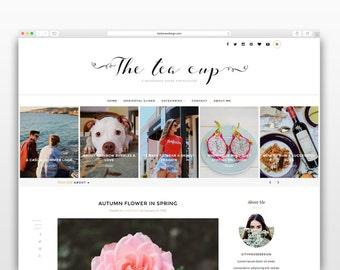 The Tea Cup - Wordpress theme-Wordpress template- Photography template - Responsive WordPress Theme - wordpress blog theme - Fashion blog