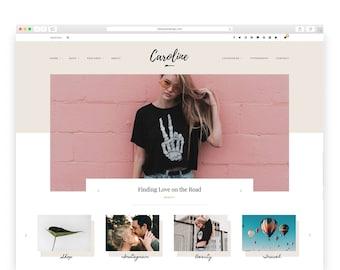 Caroline - Wordpress theme - Wordpress Template - Responsive WordPress Blog Theme - Shop Template  - Woocommerce - Fashion - Photography