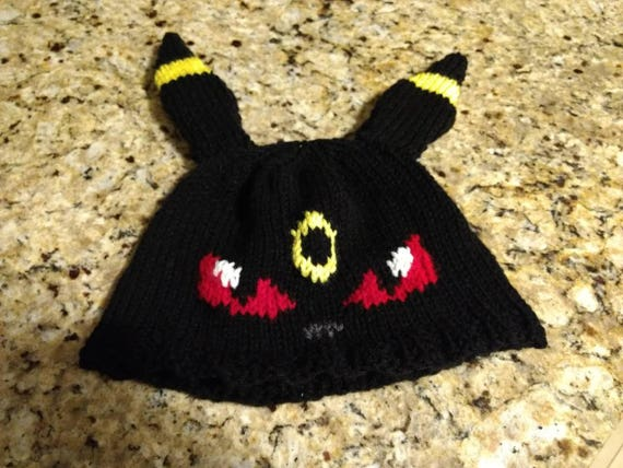 Knitted Umbreon Hat Etsy