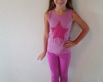 Yoga Pants-girls-spandex/nylon-capri legging-elastic waist-Gypsy