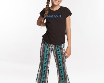 Girls Pants Horse Dreamcatcher print in 4 way stretch with moisture wicking