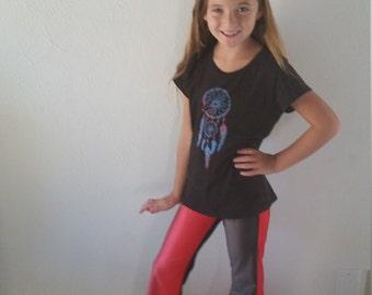 Yoga Pants-girls-spandex/nylon-flare leg-elastic waist