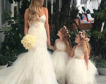 142e603051d Stunning ivory  Belle  flower girl dress