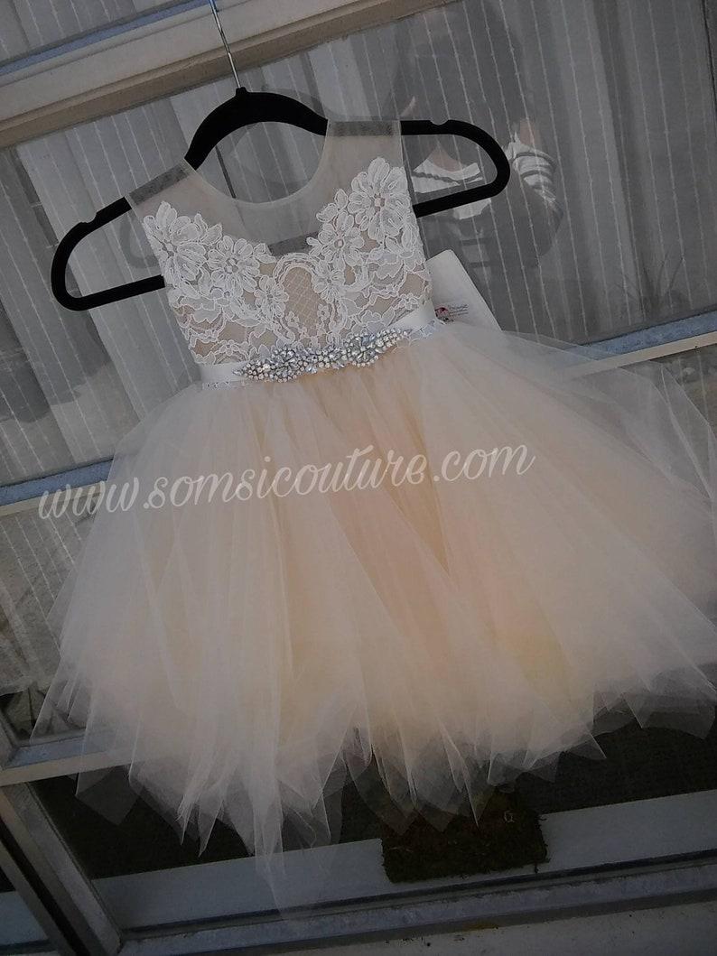 371d4d59af2 Couture dress Vivi tea length butterscotch pouffy